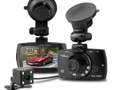 $28 with coupon for Dome G30B 2.7 inch H.264 1080P Full HD Dual Lens Car DVR 140 Degree Wide Angle Lens Dash Camera Video Recorder with Rear View Camera Motion Detection G-sensor with Charger  –  BLACK from GearBest