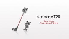 265 € avec coupon pour Aspirateur sans fil portable Dreame T20 Brosse intelligente toutes surfaces 25kPa Aspirateur de tapis de sol pour dépoussiéreur tout-en-un de l'entrepôt de l'UE ALIEXPRESS