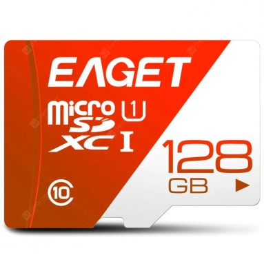 €12 with coupon for EAGET T1 High Speed ​​UHS – I Flash TF Memory Card – Red 128GB from GEARBEST