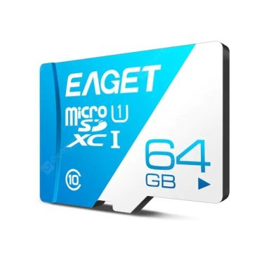 $ 7 med kupon til EAGET T1 High Speed ​​UHS-I Flash TF Micro Memory Card - Day Sky Blue 64G fra GEARBEST