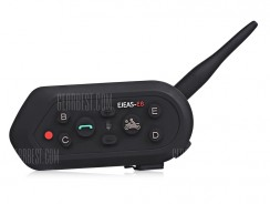 $33 with coupon for EJEAS E6 Intercom Headset  –  BLACK from GearBest