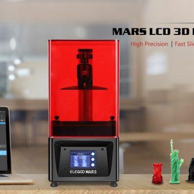 € 241 con coupon per ELEGOO Mars Stampante UV Photocuring LCD MSLA 3D Stampante con 4.7 x 2.6 x 6.1 pollici Formato di stampa Nero - Nero EU Italy MAGAZZINO da GEARBEST