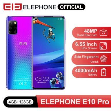 ELEPHONE E115 प्रो ग्लोबल वर्जन 10 इंच पंच-होल स्क्रीन एनएफसी एंड्रॉयड 6.55 10.0mAh 4000MP क्वाड रियर कैमरा 48GB 4GB MT128D 6762G स्मार्टफ़ोन के लिए कूपन के साथ 4 €