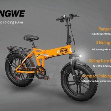 € 809 com cupom para bicicleta elétrica dobrável de pneu gordo ENGWE EP-2 500W com bateria de íon de lítio 48V 10Ah - preto de GEARBEST