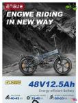 885 يورو مع كوبون لـ ENGWE EP-2 Pro 750W 20 inch Fat Tyre Electric Folding Bicycle من مستودع الاتحاد الأوروبي GEEKBUYING