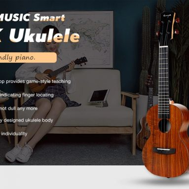€109 with coupon for ENYAMUSIC U1K APP LED Bluetooth USB Smart 23 inch Ukulele Full Board from GEARBEST