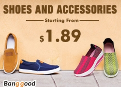 Shoes and Accessories Start From $1.89 in EU warehouse! from BANGGOOD TECHNOLOGY CO., LIMITED