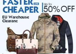 EU Clothing and Bags Clearance, UP to 50% OFF. from HongKong BangGood network Ltd.