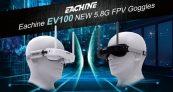 $ 97 na may kupon para sa bawatine EV100 720 * 540 5.8G 72CH FPV Goggles Sa Dual Antennas Fan 7.4V 1000mAh Baterya Para sa RC Drone - White UK WAREHOUSE mula sa BANGGOOD