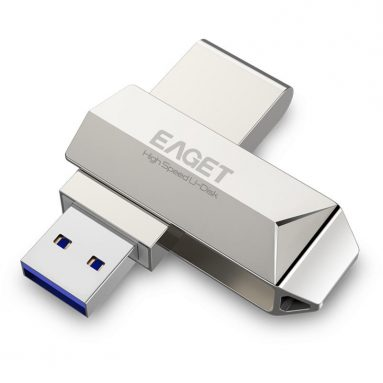 € 19 sa kupon para sa Eaget F70 USB 3.0 128GB Metal USB Flash Drive U Disk Pen Drive 360 Degree Rotation mula sa BANGGOOD