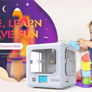 """212 € עם קופון עבור מדפסת EasyThreed ET4000 ביתית מיני חינוכית מדויקת FDM תלת מימד דיוק גבוה - תקע ארה""""ב לבן מבית GEARBEST"""