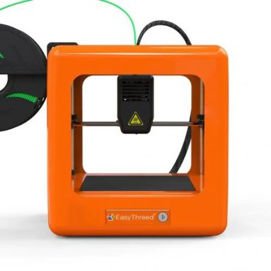 $88 with coupon for Easythreed NANO Mini Home Education Children's 3D Printer ORG – Orange EU Plug from GearBest