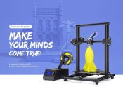 $289 with coupon for Eazmaker M18 Large Scale 3D Printer – Black EU Plug from GEARBEST