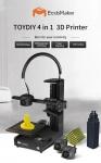 € 422 com cupom para EcubMaker TOYDIY 4-em-1 Impressora 3D FDM Laser CNC com Nivelamento Automático Dupla PLA Aquecível tudo em um - Quatro Funções_Black from EU Germany warehouse GEARBEST