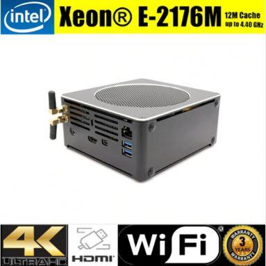 € 396 कूपन के साथ एग्लॉइड S200 मिनी PC XeON E-2176M बरेबोन हेक्सा कोर Win10 DDR4 इंटेल UHD ग्राफिक्स 630 4.4M फैनलेस मिनी डेस्कटॉप पीसी SATA mSATA MIC VGA HDMI 1000M WIFI