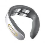11 € med kupong för Electric Wireless Smart Neck Massager TENS Pulse Lindra nacksmärta 4 huvudvibrator Uppvärmning Cervical Massage Health Care från BANGGOOD