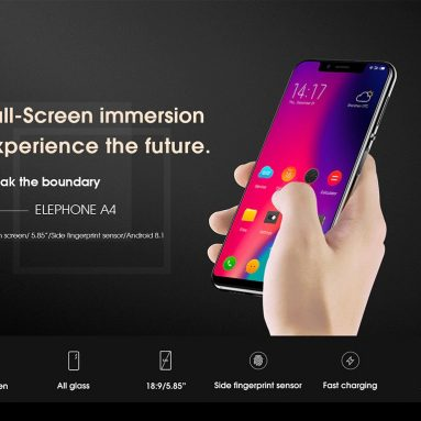 $99 with coupon for Elephone A4 4G Phablet – BLACK from Gearbest