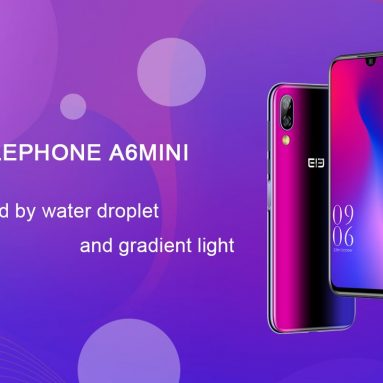 € 64 med kupon til Elephone A6 Mini 5.71 Inch HD + Android 9.0 3180mAh Side Fingeraftryk 4GB 32GB MT6761 Quad Core 4G Smartphone fra BANGGOOD