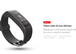 $18 with coupon for Elephone ELE Band 5 Smart Bracelet – BLACK from Gearbest