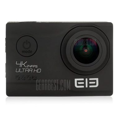 $57 with coupon for Elephone EleCam Explorer Elite 4K Action Camera  –  BLACK from GearBest