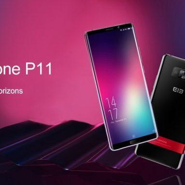 € 91 з купоном для Elephone P11 4G Phablet 6.0 дюйм MTK X25 Deca Core 4GB RAM 128GB ROM - чорний від GEARBEST
