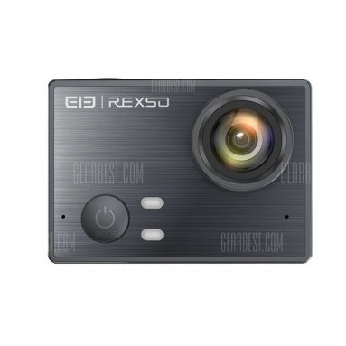$99 flashsale for Elephone REXSO Explorer K Waterproof 4K Action Camera  –  BLACK from GearBest