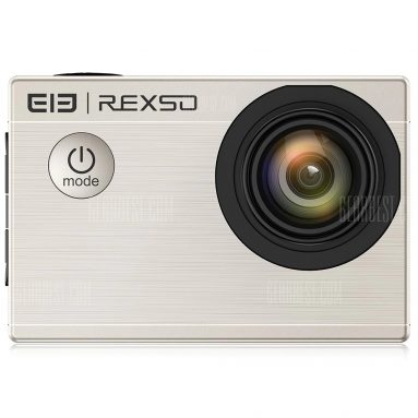 $46 with coupon for Elephone REXSO Explorer X Action Camera 4K 30fps HD  –  CHAMPAGNE GOLD from GearBest