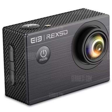 $19 with coupon for Elephone REXSO Explorer X Action Camera 4K 30fps HD  –  BLACK from GearBest