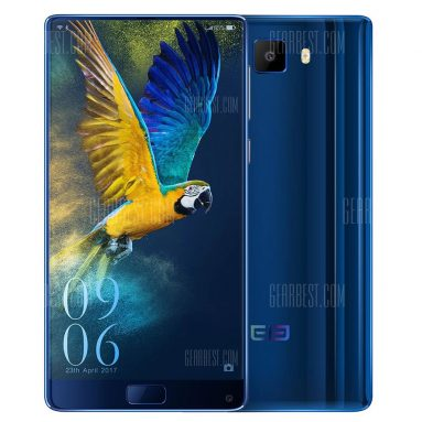 $259 flashsale for Elephone S8 4G Phablet  –  BLUE from GearBest