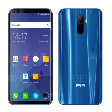 $349 with coupon for Elephone U 4G Phablet  –  6GB RAM + 128GB ROM  BLUE from GearBest