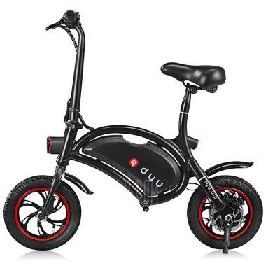$ 433 với phiếu giảm giá cho F - bánh xe DYU 12 inch 10Ah Gấp Xe đạp điện (Deluxe) - BLACK từ GearBest