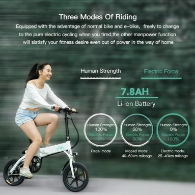 €419 with coupon for FIIDO D1 14 Inch Folding Power Assist Eletric Bicycle GERMANY WAREHOUSE from TOMTOP