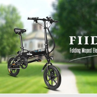 €365 with coupon for FIIDO D1 Folding Electric Bike 7.8Ah Battery Moped Bicycle – WHITE EU warehouse from GearBest