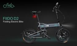 € 439 mit Gutschein für FIIDO D2 36V 7.8Ah 250W 16 Zoll Moped-Klappfahrrad 25km / h Max 50KM Mileage Electric Bike - Dunkelgrau von BANGGOOD