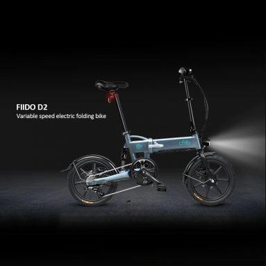 € 482 з купоном на FIIDO D2 16-дюймовий складений Power Assist Електричний велосипед EU GERMANY WAREHOUSE від TOMTOP