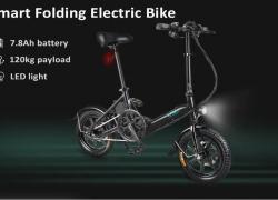 $ 499 s kupónom pre FIIDO D3 Mini hliníková zliatina Smart Folding Electric Bike BLACK Sklad EÚ od spoločnosti GearBest