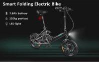 FIIDO D368 मिनी एल्यूमीनियम मिश्र धातु स्मार्ट तह इलेक्ट्रिक बाइक काले यूरोपीय संघ पोलैंड के लिए कूपन के साथ € 3 गियरबेस्ट से गोदाम