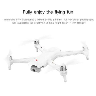 €185 with coupon for FIMI A3 5.8G 1KM FPV With 2-axis Gimbal 1080P Camera GPS RC Drone Quadcopter RTF – 5.8G FPV from EU CZ ES / US warehouse BANGGOOD