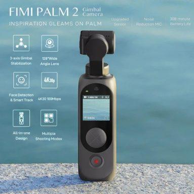 € 157 dengan kupon untuk FIMI PALM 2 FPV Gimbal Camera Upgrade 4K 100Mbps WiFi Stabilizer 308 mnt Battery Life Pengurangan Kebisingan MIC Deteksi Wajah Smart Track dari BANGGOOD