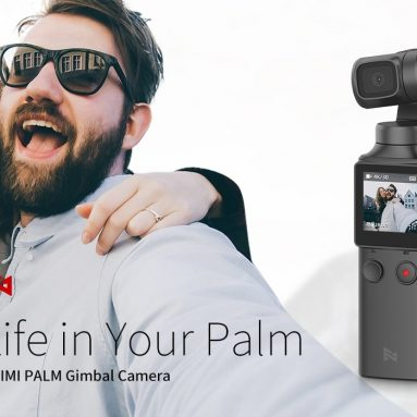 € 130 med kupong for Xiaomi FIMI PALM Pocket Gimbal Camera 4K 100Mbps HD 128 grader vidvinkel 3 akser håndholdt stabilisator Anti-shake støtte WiFi Bluetooth Smart Tracking fra BANGGOOD