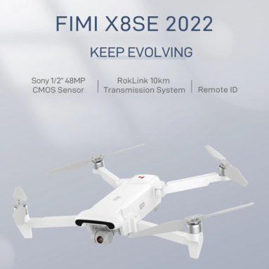 552 EUR s kupónem pro FIMI X8 SE 2022 2.4 GHz 10 km FPV s 3osou kamerou Gimbal 4K HDR Video GPS 35 minut letu RC Quadcopter RTF od BANGGOOD