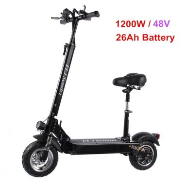 €817 with coupon for FLJ C11 1200W 10inch wheel Electric Scooter with seat electric bike hoverboard e scooter for adult – 26Ah battery with seat EU Germany WAREHOUSE from GEARBEST