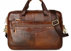 $27 with coupon for FONMOR Genuine Leather Briefcases Men Handbag Cowhide Business laptop bag  –  LIGHT BROWN from GearBest