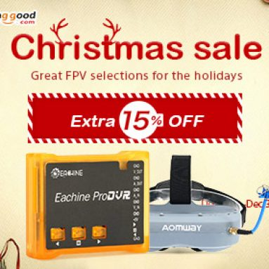 15% OFF Christmas Sale for FPV System from BANGGOOD TECHNOLOGY CO., LIMITED
