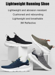 €25 with coupon for FREETIE Lightweight EVA Running Shoes 3M Reflective Thickened Cushioning Breathable Outdoor Casual Sports Shoes from BANGGOOD
