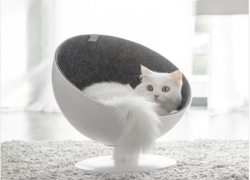 €40 with coupon for FURRYTAIL BOSS Cat Boss Fiber Spinning Pet Nest White Minimalist Interactive Pet Bed from XIAOMI YOUPIN from BANGGOOD