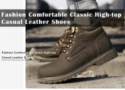 $36 with coupon for Fashion Comfortable Classic High-top Casual Leather Shoes from GearBest
