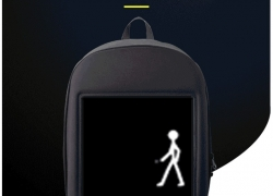 $70 with coupon for Fashion WIFI Version Smart Led Dynamic Backpack – Gray from GearBest
