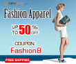 Fashion Apparel-Save 50% Off and Coupon: Fashion8 from Newfrog.com
