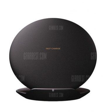 $ 18 z kuponem na szybką ładowarkę Wireless Charging Convertible Stand Pad dla Samsung S8 / S8 + / Uwaga - CZARNY od GearBest